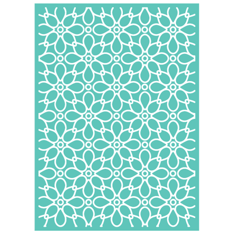 Cuttlebug 5 inch X7 inch Embossing Folder Julis Garden