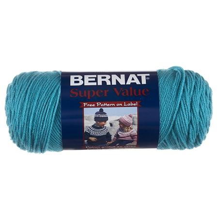 Bernat Super Value Solid Yarn - Aqua - 7oz (197g) 426yd