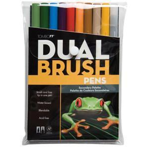 Tombow Dual Brush Marker Set 10 Pack - Secondary