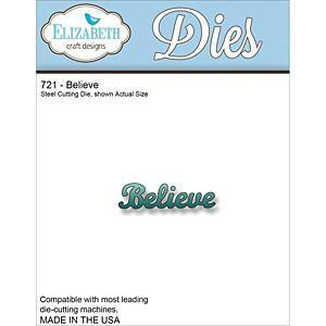 Elizabeth Craft Metal Die Believe (Co-1A)