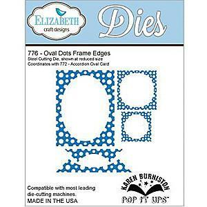 Elizabeth Craft Pop It Up Metal Dies By Karen Burniston Oval Dots Frame Edges (Co-1B)