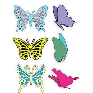 Cheery Lynn - Small Exotic Butterflies #1 With Angel Wings (Applique)
