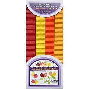 Quilled Creations - Corrugated Quilling Paper 10mm - Red Orange Yellow 32 Pk