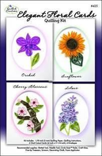 Quilled Creations - Elegant Floral Cards Quilling Kit