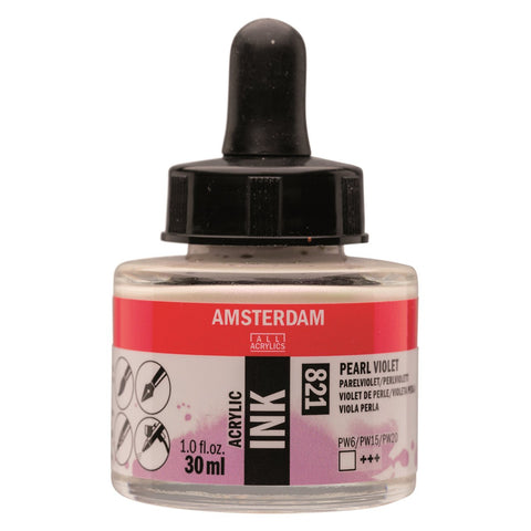 821 - Talens Amsterdam Acrylic Ink 30ml - Pearl Violet