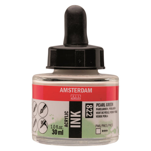 822 - Talens Amsterdam Acrylic Ink 30ml - Pearl Green