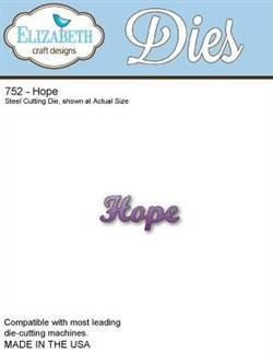 Elizabeth Craft Designs - Metal Dies - Hope (Co-1C)