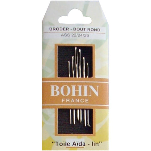 Bohin Tapestry Hand Needles - Size 22/24/26 6 pack
