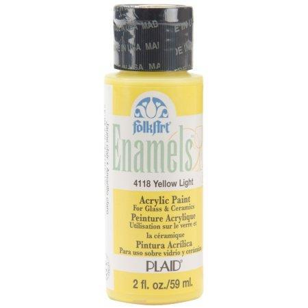 FolkArt Enamel Paint 2oz - Yellow Light