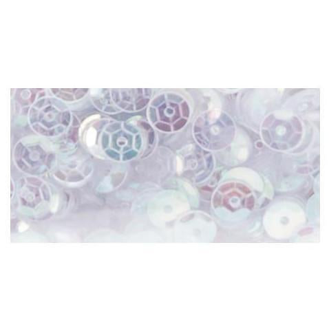 Darice - Cupped Sequins 5mm 800 Pk - White Iridescent