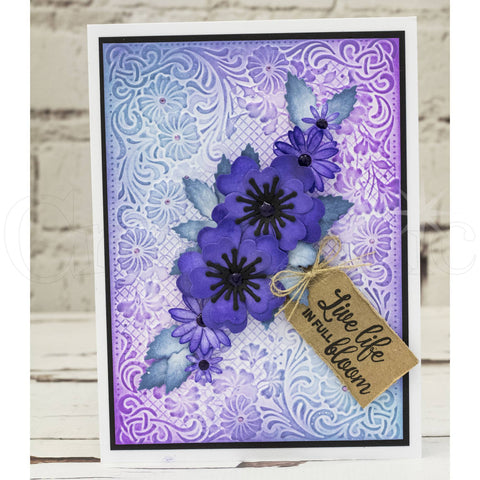 Crafters Companion - 3D Embossing Folder 5x7 inch  - Flourishing Frame