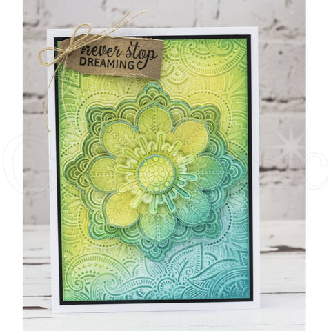 Crafters Companion - 3D Embossing Folder 5x7 inch  - Indian Summer