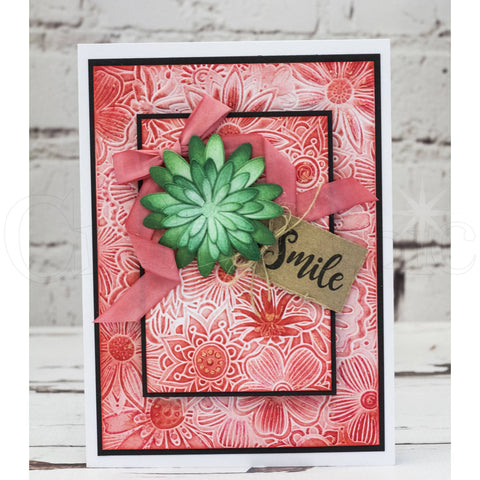 Crafters Companion - 3D Embossing Folder 5x7 inch  - Floral Fusion