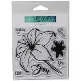 Concord & 9th Clear Stamps - 4x4 inch - Lily