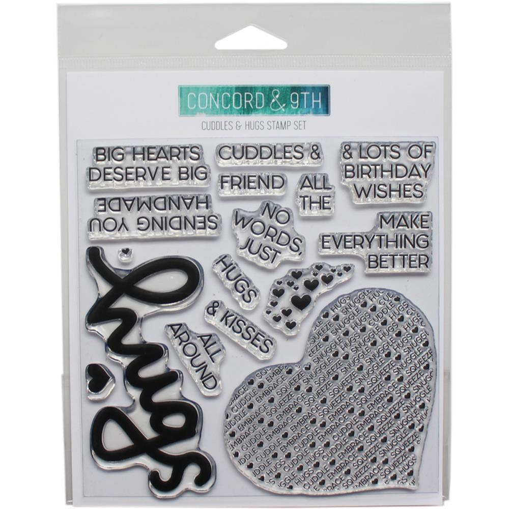 Concord & 9th Clear Stamps 6x6 inch - Cuddles & Hugs