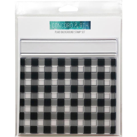 Concord & 9th Clear Stamps 6x6 inch - Plaid Background