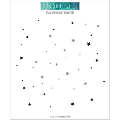 Concord & 9th Clear Stamps 6x6inch - Star Turnabout