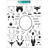 Concord & 9th Clear Stamps 6x8inch - Furry Friends