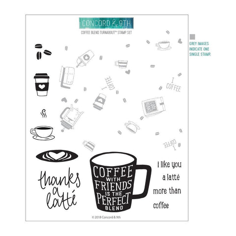 Concord & 9th Clear Stamps 6in X 8in - Coffee Blend Turnabout