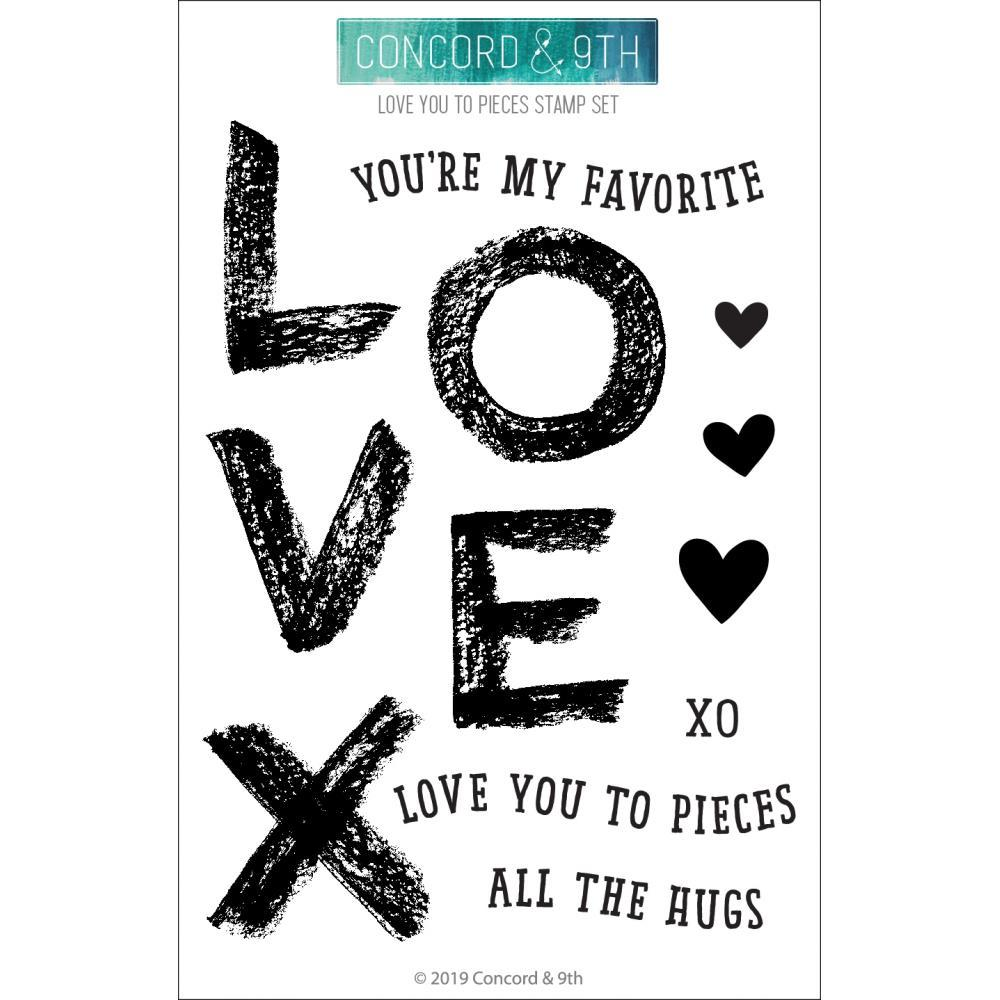 Concord & 9th Clear Stamps 4in x 6in - Love You To Pieces