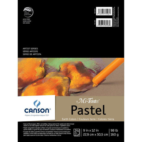 Canson Mi-Teintes Pastels Paper Pad 9x12 inch - Earth Tones 24 Sheets