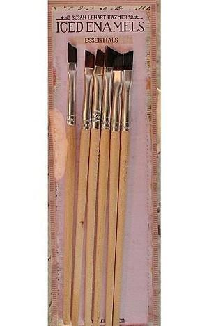 Iced Enamels Angled Brushes 6 Pack