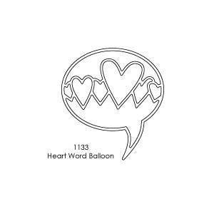 Memory Box - Poppystamps - Heart Word Balloon