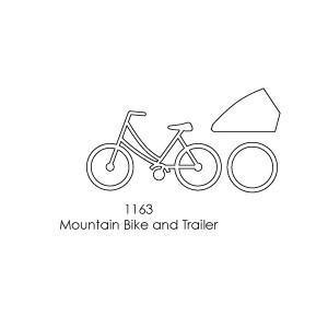 Memory Box - Poppystamps - Mountain Bike And Trailer