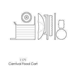 Memory Box - Poppystamps - Carnival Food Cart