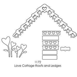 Memory Box - Poppystamps - Love Cottage Roofs And Ledges
