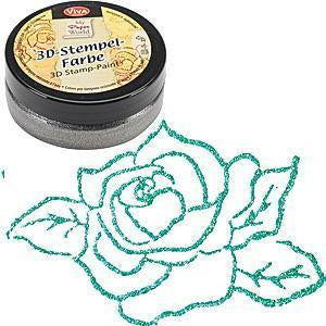 Viva Decor - 3D Stamp Paint - Metallic Turquoise