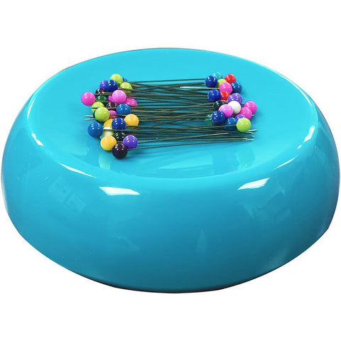 Grabbit Magnetic Pincushion with 50 Pins - Teal