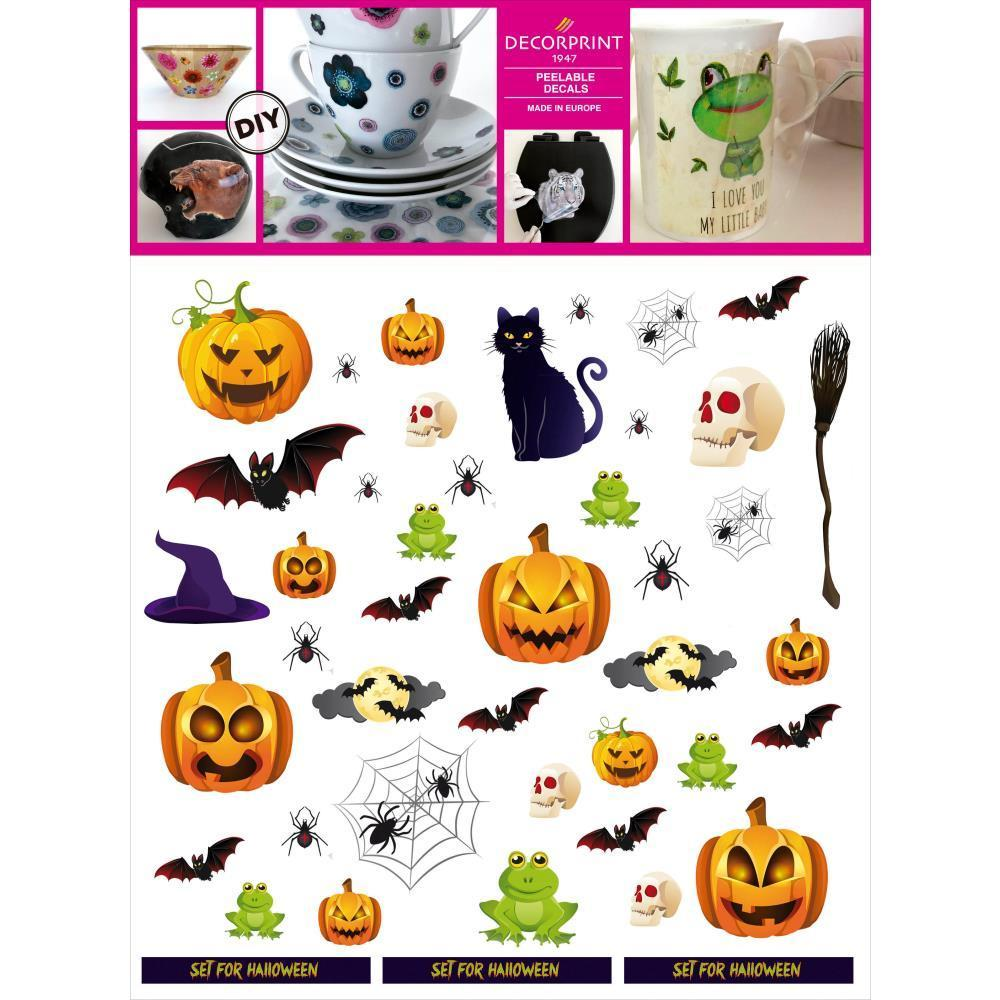 Decorprint Peelable Decals - Halloween