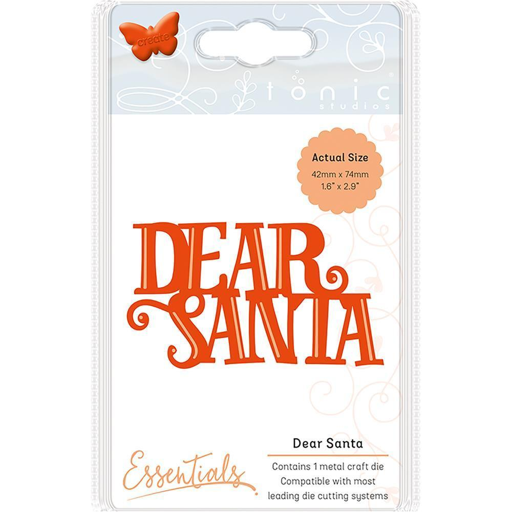 Tonic Studios Essentials Christmas Sentiments Die Dear Santa