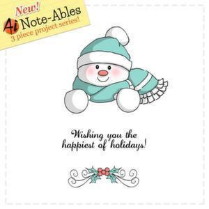 Art Impressions Note-Ables Cling Rubber Stamp Snowman