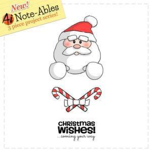 Art Impressions Note-Ables Cling Rubber Stamp Santa
