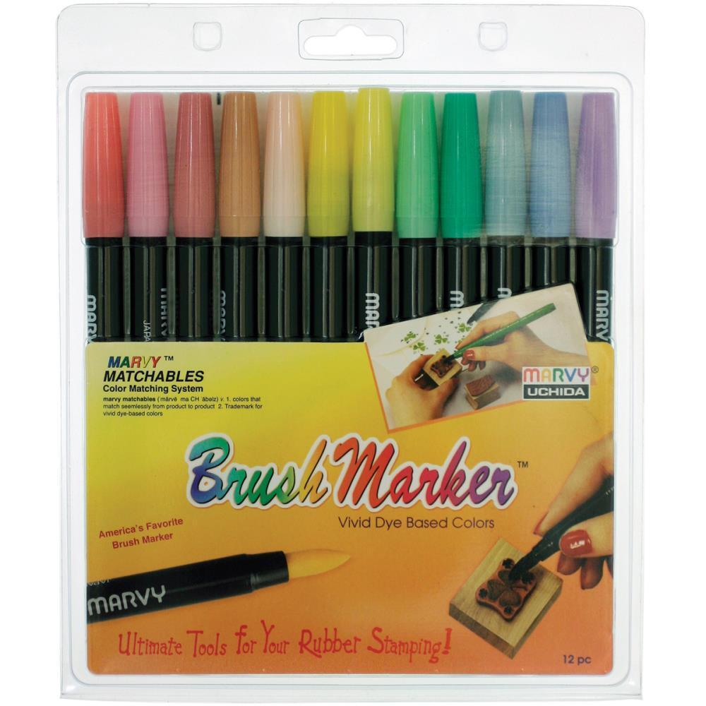 Uchida - Brush Markers 12 pack Pastel