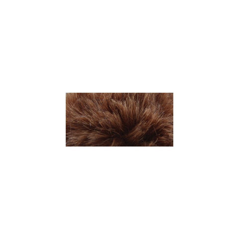 Bernat Faux Fur Pompom 1 pack - Brown Muskrat
