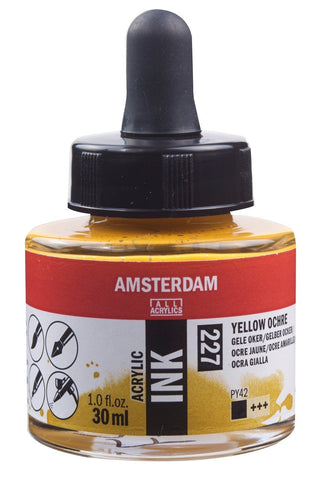 Talens Amsterdam Acrylic Ink 30ml - YELLOW OCHRE - 227