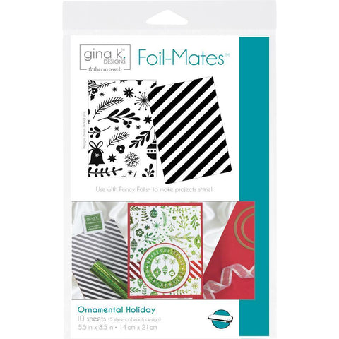 Gina K Designs Foil-Mates Background 5.5x8.5 inch - Ornamental Holiday 10 Pk