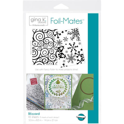 Gina K Designs Foil-Mates Background 5.5x8.5 inch - Blizzard 10 pk