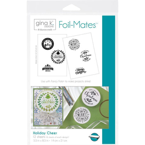 Gina K Designs Foil-Mates Background 5.5x8.5 inch - Holiday Cheer 12 Pk