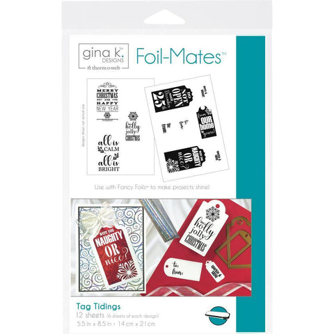 Gina K Designs Foil-Mates Background 5.5x8.5 inch - Tag Tidings 10 Pk