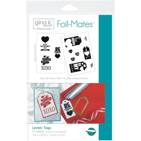 Gina K Designs Foil-Mates Tags 5.5x8.5 inch 12 pack - Lovely