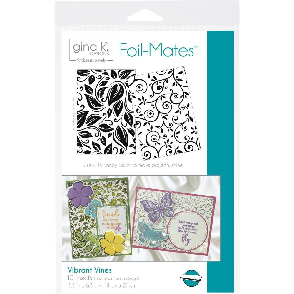 Thermoweb Gina K Designs Foil-Mates Background 5.5x8.5 inch 10 pack - Vibrant Vines