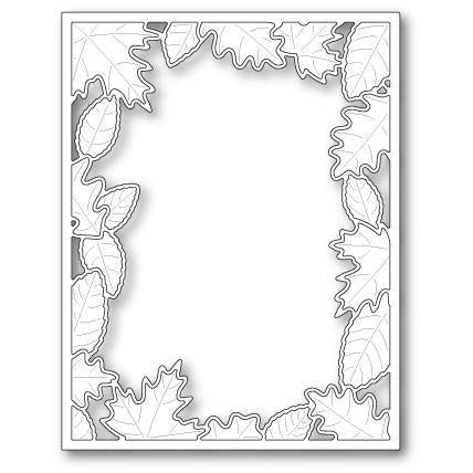 Poppystamps Die - Brilliant Leaf Frame