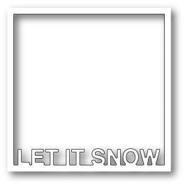 Poppystamps Die - Let It Snow Frame