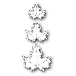 Poppystamps Die - Stitched Maple Trio