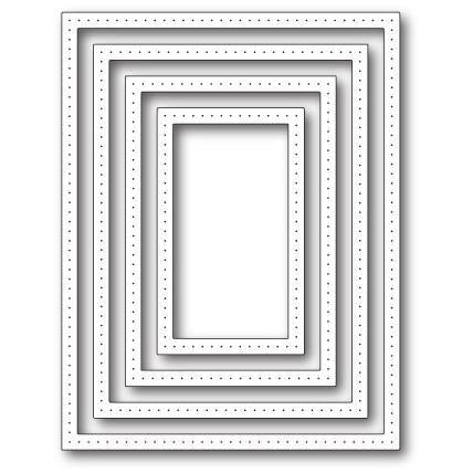Poppystamps Die - Pointed Rectangle Frames