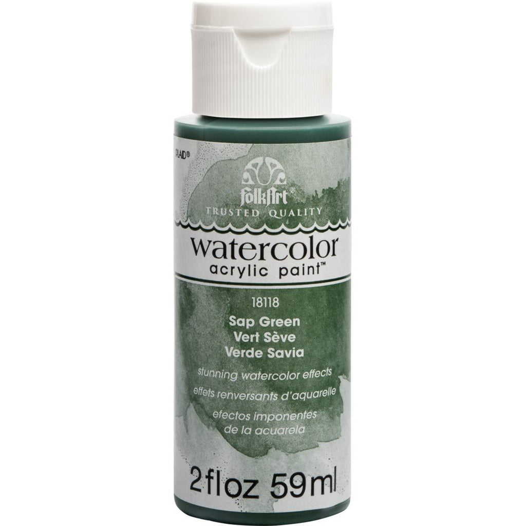 FolkArt Watercolour Acrylic Paint 2oz - Sap Green